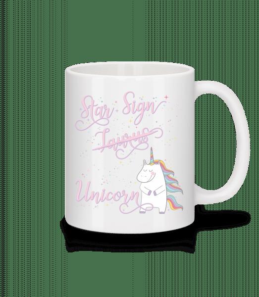 Star Sign Unicorn Taurus - Tasse - Weiß - Vorn