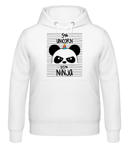 5% Unicorn 95% Ninja - Hoodie - White - Vorn