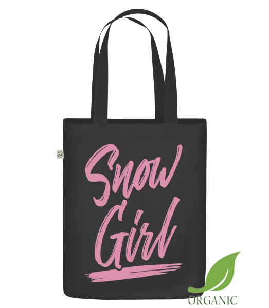 "Snow Girl - Organic ""Earth Positive"" tote bag - Black - Vorn"