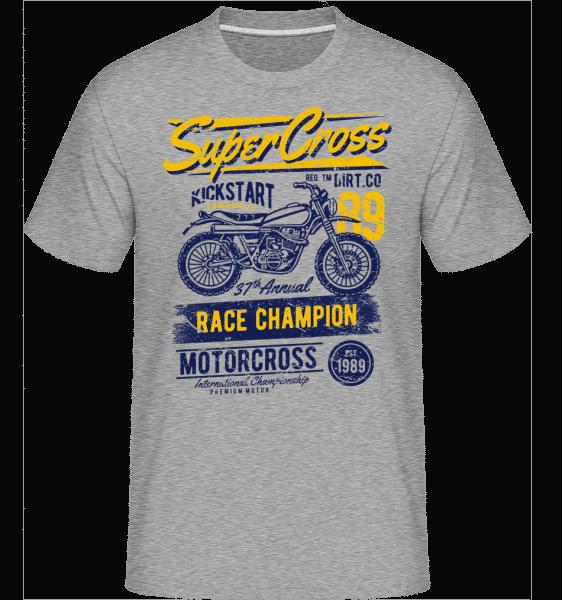 Super Cross -  Shirtinator Men's T-Shirt - Heather grey - Vorn
