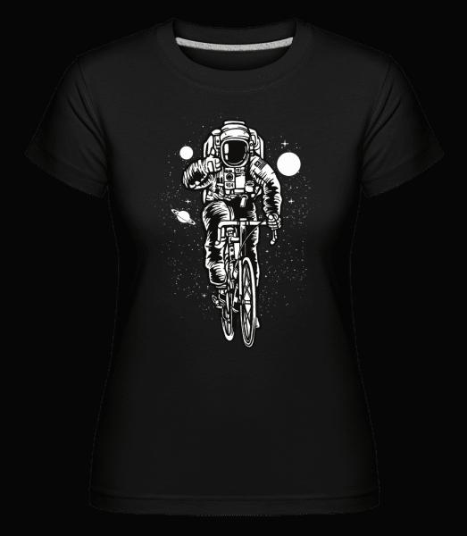 Astronaut Bicycle - Shirtinator Frauen T-Shirt - Schwarz - Vorn
