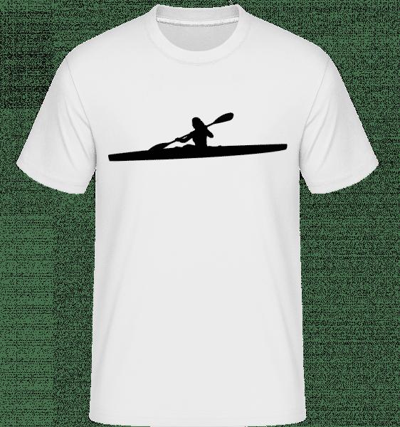 Kajak Shape Black -  Shirtinator tričko pro pány - Bílá - Napřed