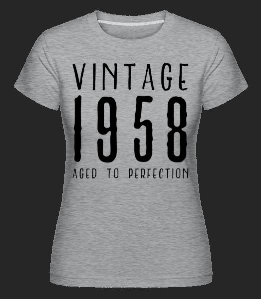 Vintage 1958 Aged To Perfection -  Shirtinator Women's T-Shirt - Heather grey - Vorn