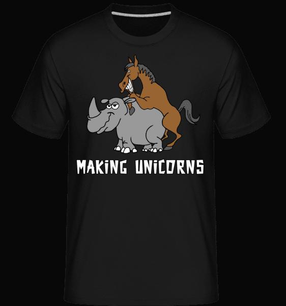 Making Unicorns -  Shirtinator Men's T-Shirt - Black - Vorn