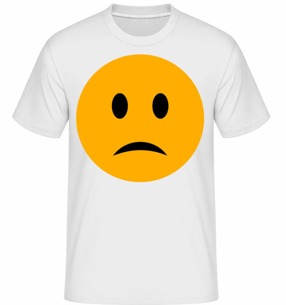 Sad Smiley -  Shirtinator Men's T-Shirt - White - Vorn