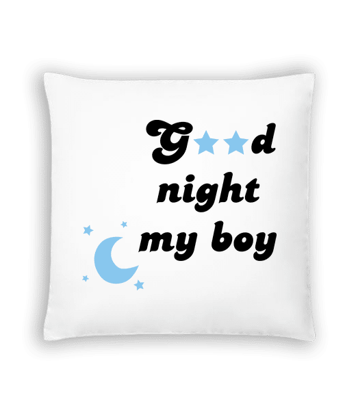 Good Night My Boy - Kissen - Weiß - Vorn