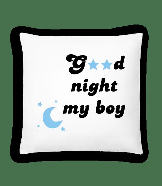 Good Night My Boy - Cushion - White - Vorn