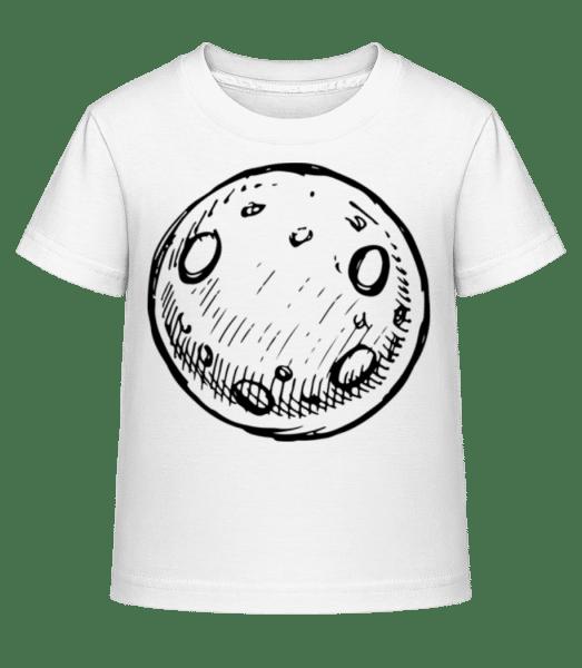 Mond - Kinder Shirtinator T-Shirt - Weiß - Vorn