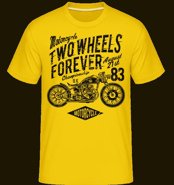 Two Wheels Forever -  Shirtinator Men's T-Shirt - Golden yellow - Vorn