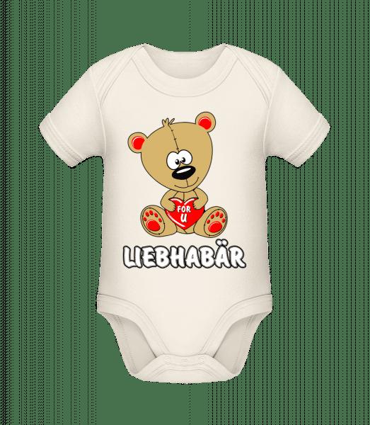 Liebhabär - Baby Bio Strampler - Creme - Vorn