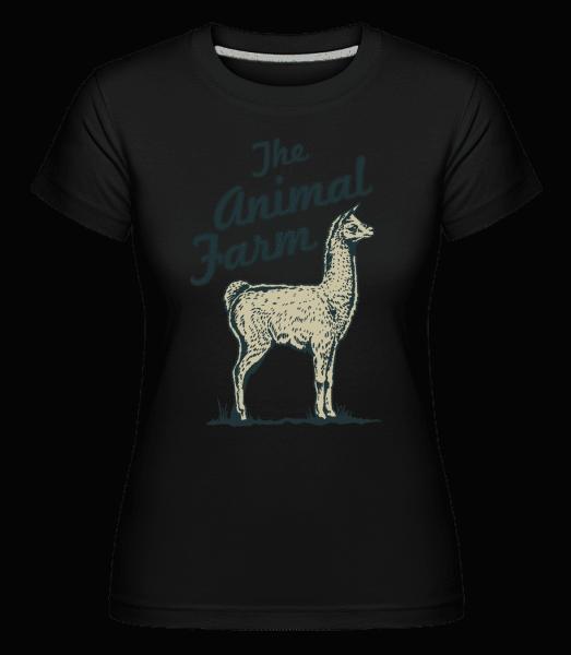 Llama The Animal Farm -  Shirtinator Women's T-Shirt - Black - Front