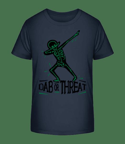 Dab or Threat - Kid's Premium Bio T-Shirt - Navy - Vorn