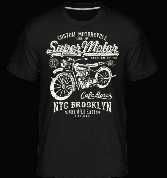 Super Motor -  Shirtinator Men's T-Shirt - Black - Front