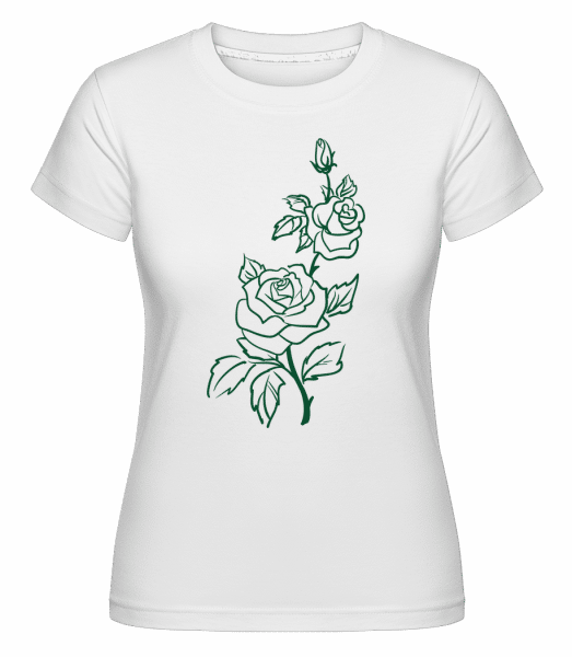 Rose Comic -  Shirtinator Women's T-Shirt - White - Vorn