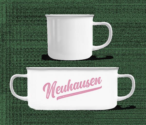 Neuhausen Swoosh - Emaille-Tasse - Weiß - Vorn