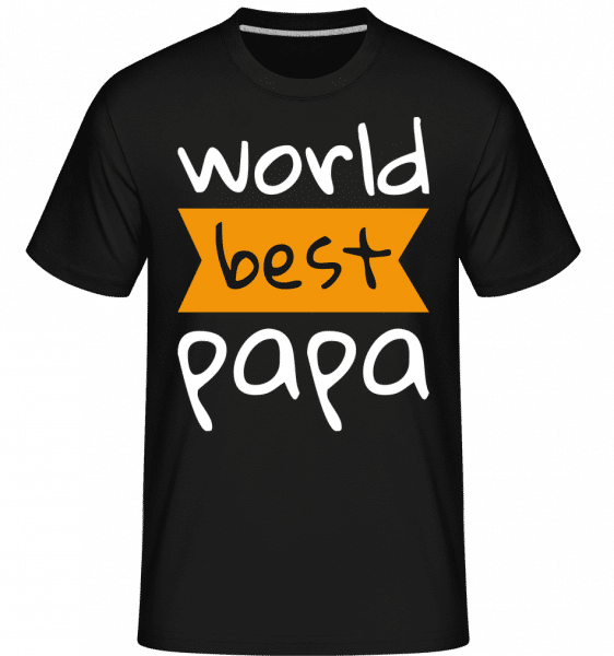 World Best Papa -  Shirtinator Men's T-Shirt - Black - Front