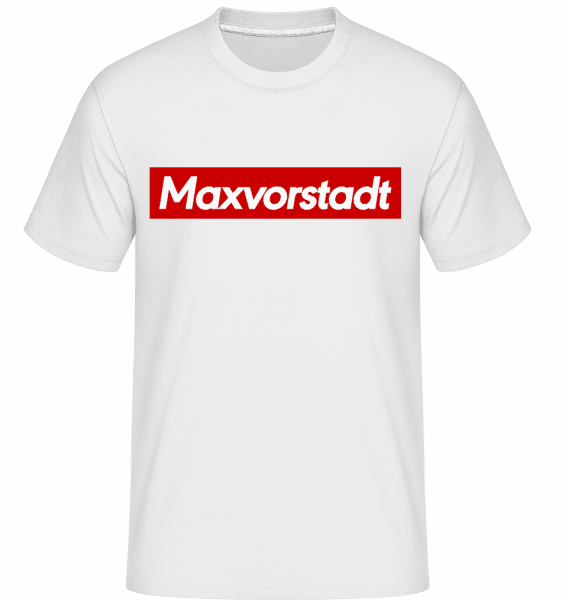 Maxvorstadt - Shirtinator Männer T-Shirt - Weiß - Vorn