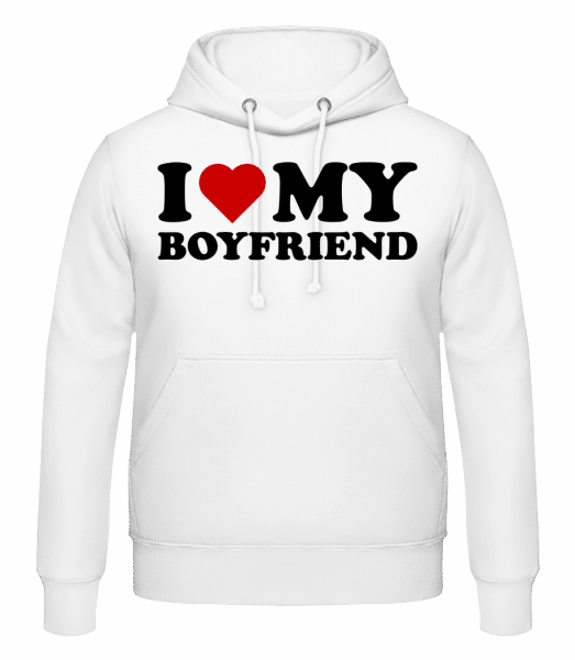 I Love My Boyfriend - Men's Hoodie - White - Vorn