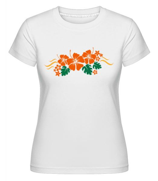 Flower Ornament Orange - Shirtinator Frauen T-Shirt - Weiß - Vorne
