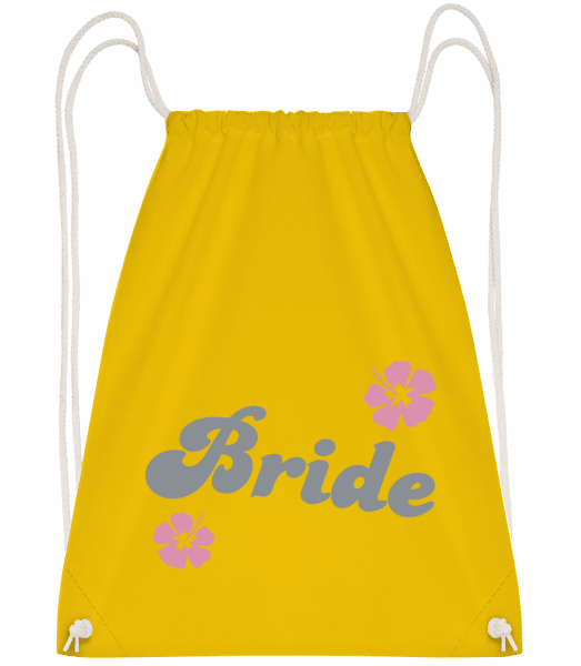 Bride - Drawstring Backpack - Yellow - Vorn