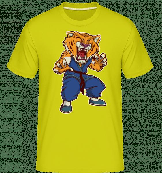 Tiger Kungfu -  Shirtinator Men's T-Shirt - Lime - Vorn