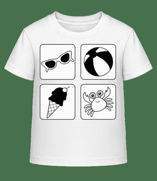detský letný - Detské Shirtinator tričko - Biela - Predné
