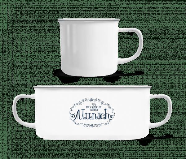 Munich Germany - Enamel-cup - White - Front