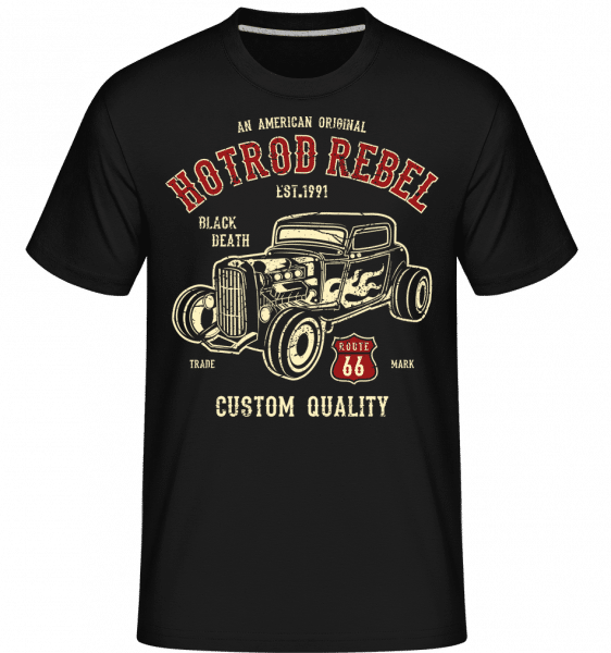 Hot Rod Rebel -  Shirtinator Men's T-Shirt - Black - Vorn