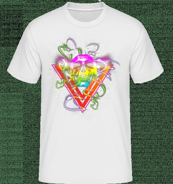 Disco Skull -  Shirtinator Men's T-Shirt - White - Vorn