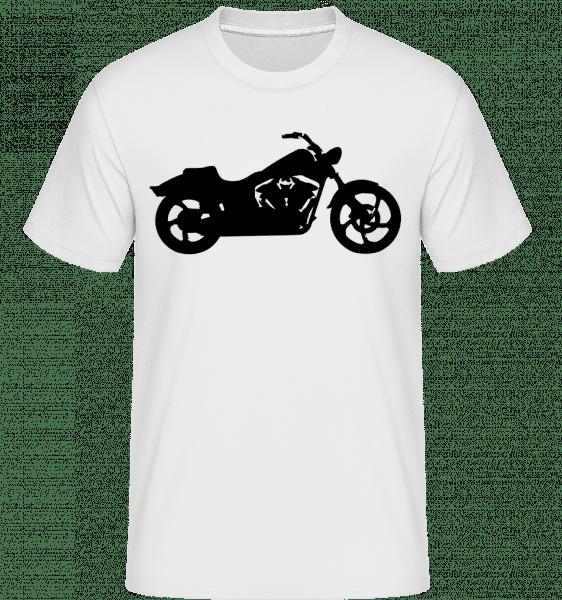 motocykel tieň -  Shirtinator tričko pre pánov - Biela - Predné