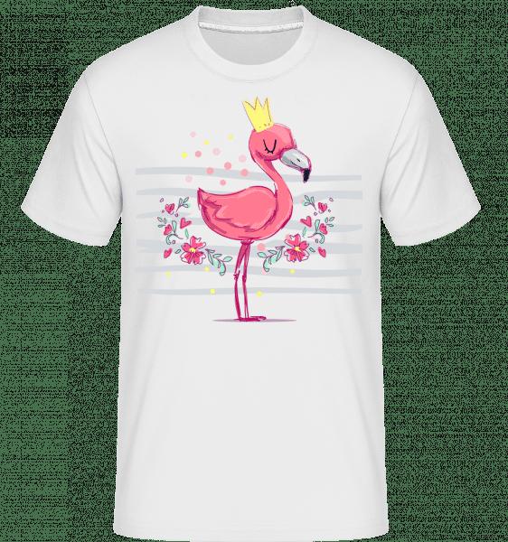 Royal Flamingo -  Shirtinator Men's T-Shirt - White - Vorn