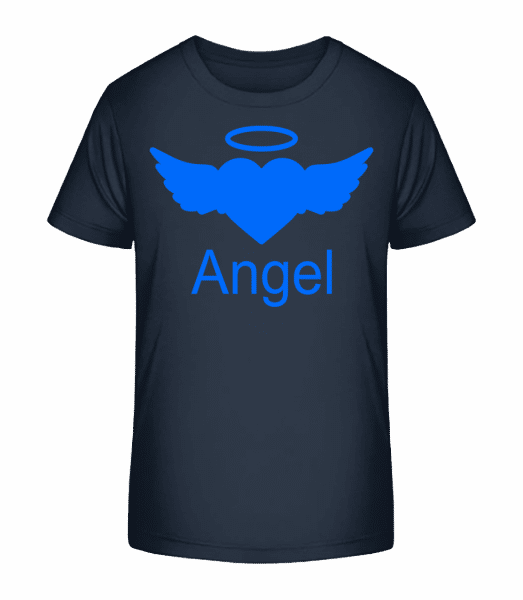 Angel Heart - Kid's Premium Bio T-Shirt - Navy - Front