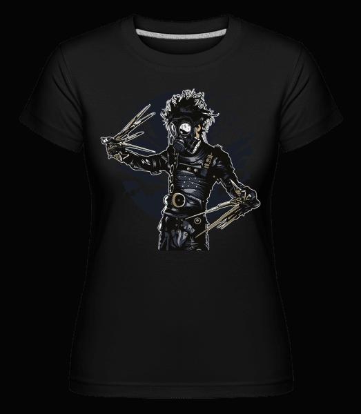 Gas Mask Scissors -  Shirtinator Women's T-Shirt - Black - Vorn