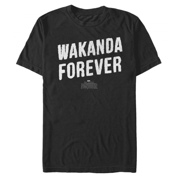 Panther Stone Wakanda - Marvel Black Panther - Men's T-Shirt - Black - Front
