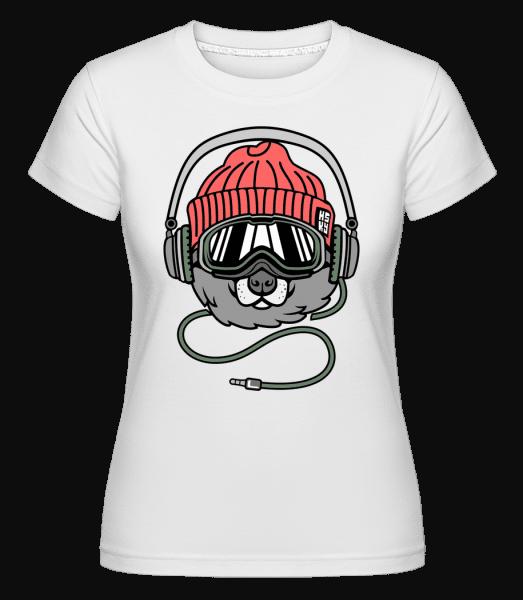 Cool Dog -  Shirtinator Women's T-Shirt - White - Vorn