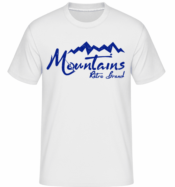 Mountains Retro Brand Logo -  Shirtinator Men's T-Shirt - White - Vorn