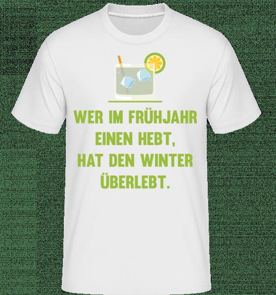 Winter Überlebt - Shirtinator Männer T-Shirt - Weiß - Vorn