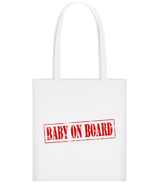 Baby On Board - Carrier Bag - White - Vorn