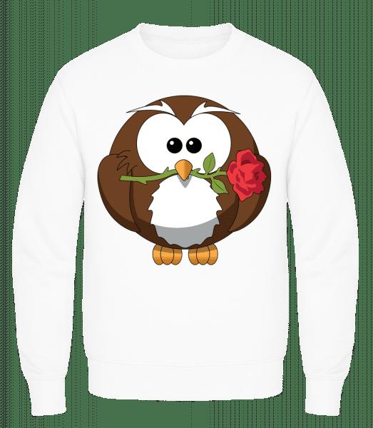 Valentine's Day Owl - Men's Sweatshirt AWDis - White - Vorn