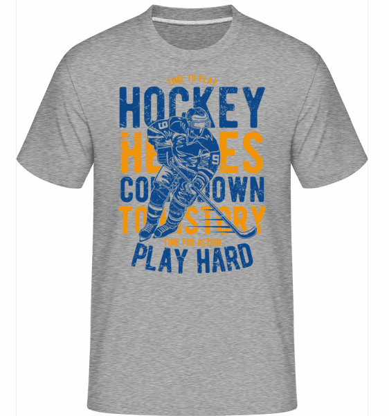Time To Play Hockey -  Shirtinator Men's T-Shirt - Heather grey - Vorn