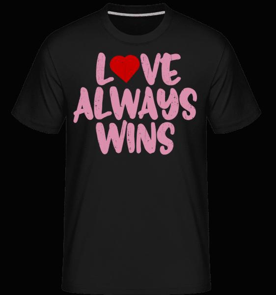 Love Always Wins -  Shirtinator Men's T-Shirt - Black - Vorn