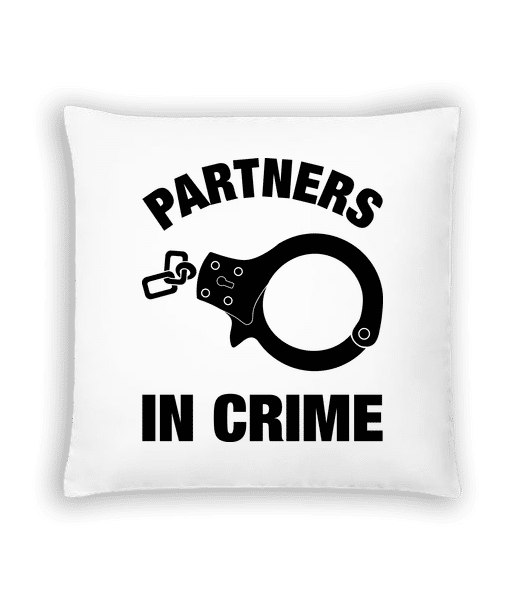 Partners In Crime - Cushion - White - Vorn