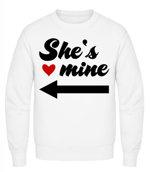 She Is Mine - Classic Set-In Sweatshirt - White - Vorn