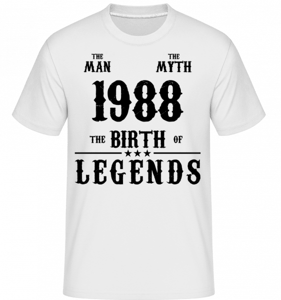 The Myth 1988 -  Shirtinator Men's T-Shirt - White - Vorn