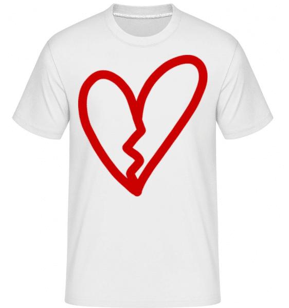Broken Heart -  Shirtinator Men's T-Shirt - White - Front