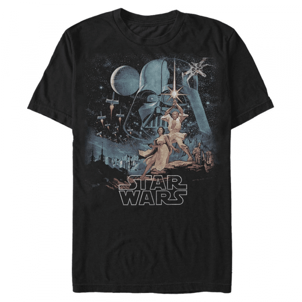 Two Hopes Group Shot - Star Wars - Men's T-Shirt - Black - Front