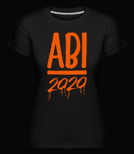 Abi 2020 Laufende Farben - Shirtinator Frauen T-Shirt - Schwarz - Vorn