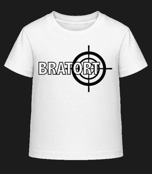 Bratort - Kinder Shirtinator T-Shirt - Weiß - Vorn