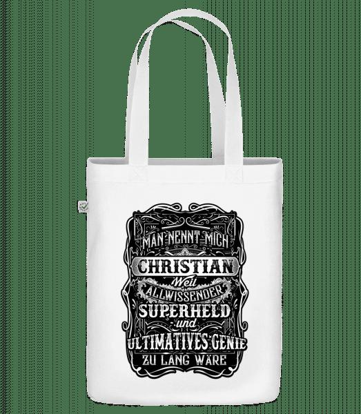 Man Nennt Mich Christian - Bio Tasche - Weiß - Vorn