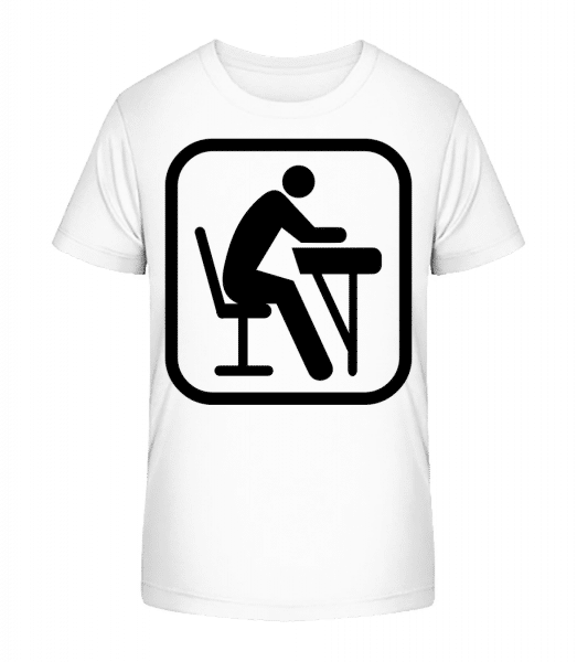 School Sign - Kid's Premium Bio T-Shirt - White - Front